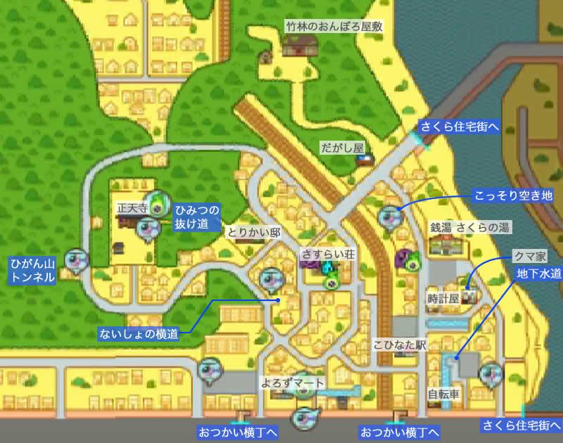 団々坂のマップ画像