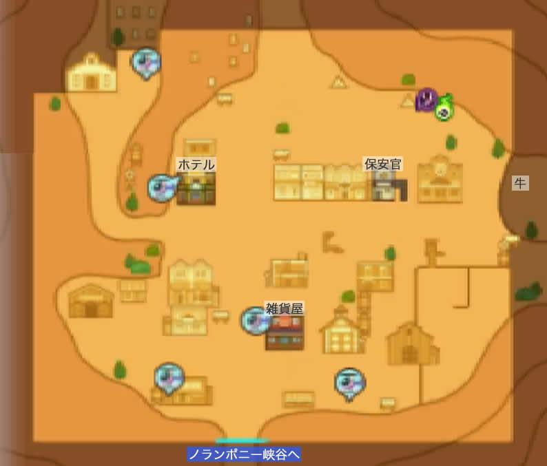 ウォルナービレッジのマップ画像