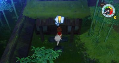 団々坂のおんぼろ屋敷の左にある小屋