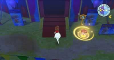 クエスト「最後の妖怪サーカス」で、ぶようじん坊を置くサークルの場所