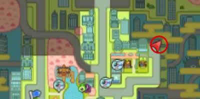 クエスト受注場所は、ニュー妖魔シティのマップ右上の行き止まり